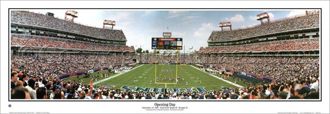 Tennessee Titans Opening Day (1999) Panoramic Stadium Poster Print - Everlasting Images