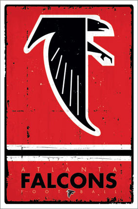 Atlanta Falcons NFL Heritage Series Official NFL Football Team Retro Logo Poster - Trends