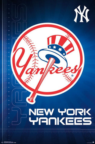 New York Yankees Official MLB Baseball Team Logo Poster - Trends International