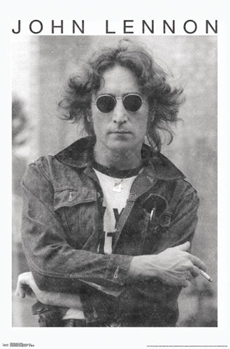 "John Lennon ""New York 1974"" Classic Black-and-White Portrait Poster - Trends International"