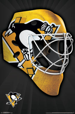 Pittsburgh Penguins Official NHL Hockey Team Logo Goalie Mask Edition Wall Poster - Trends International
