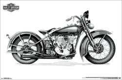 Harley-Davidson Motorcycles Model VLD c.1932 Classic Motorcycle Profile Poster - Trends 2017