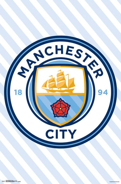 Manchester City FC Club Crest Official Team Logo Poster - Trends International