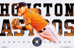 "Carlos Correa ""Superstar"" Houston Astros MLB Baseball Poster - Trends International"