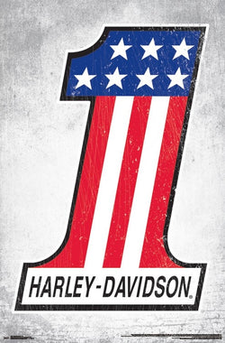 "Harley-Davidson Motorcycles ""Patriot-1"" Official Logo Poster - Trends International Inc."