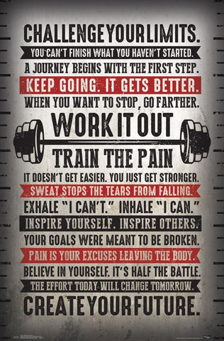 fitness gym motivational challenge your limits inspirational