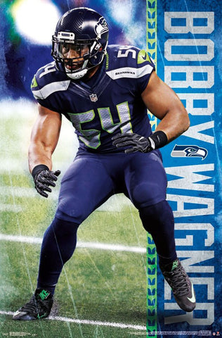 "Bobby Wagner ""On the Prowl"" Seattle Seahawks Linebacker Official NFL Poster - Trends Int'l."