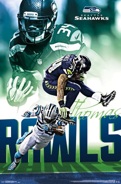 "Thomas Rawls ""Touchdown"" Seattle Seahawks Running Back Official NFL Poster - Trends Int'l."