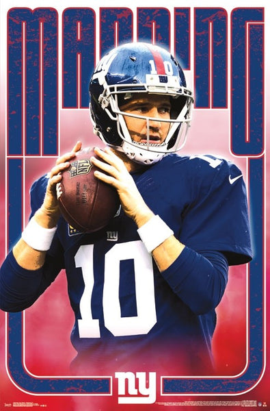"Eli Manning ""Old-School Warrior"" New York Giants QB NFL Action Wall POSTER - Trends International"