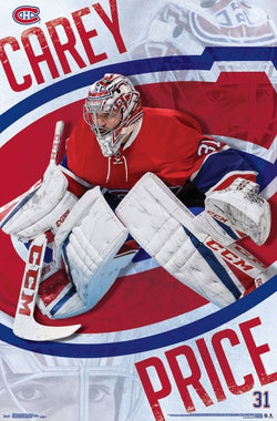 "Carey Price ""Focus"" Montreal Canadiens Goalie NHL Action Poster - Trends International"