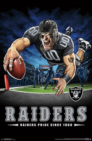 "Oakland Raiders ""Raiders Pride Since 1960"" NFL Theme Art Poster - Liquid Blue/Trends Int'l."