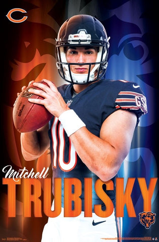 "Mitch Trubisky ""Arrival"" Chicago Bears NFL Football Poster - Trends International"