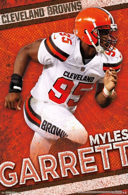 "Myles Garrett ""Bonecrusher"" Cleveland Browns NFL Action Wall Poster - Trends International"