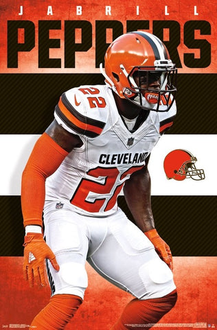 "Jabrill Peppers ""Orange Patrol"" Cleveland Browns NFL Action Wall Poster - Trends International"