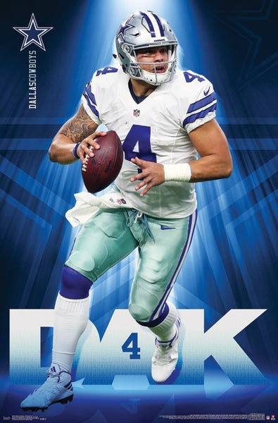 "Dak Prescott ""Dynamo"" Dallas Cowboys QB NFL Action POSTER - Trends International 2017"