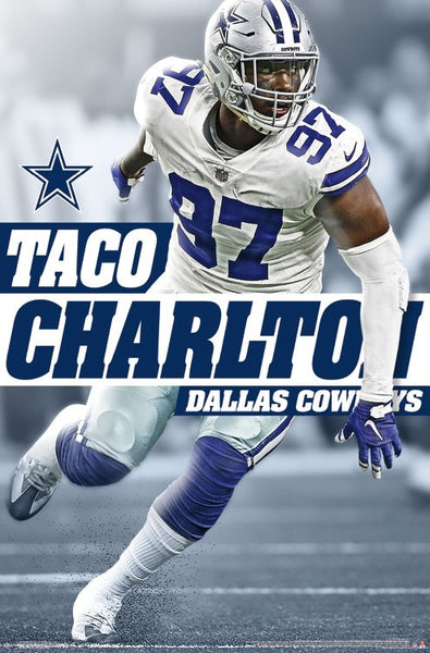 "Taco Charlton ""Prowler"" Dallas Cowboys NFL Action Wall Poster - Trends International"