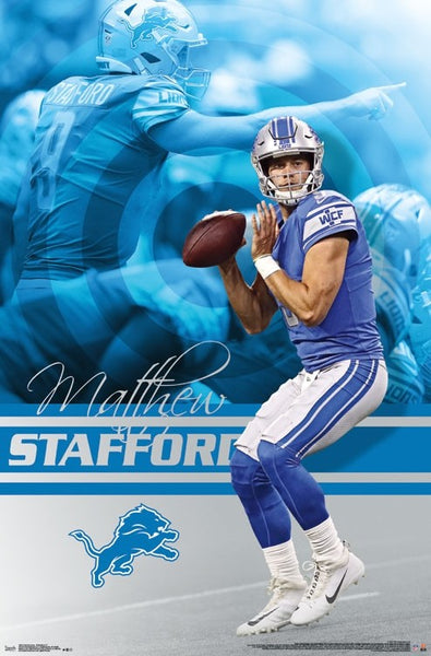 "Matthew Stafford ""Gunslinger"" Detroit Lions QB NFL Football Action Poster - Trends International"