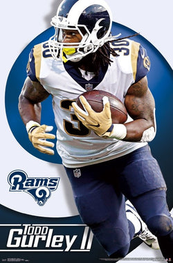 "Todd Gurley ""Trailblazer"" Los Angeles Rams NFL Action Wall Poster - Trends International 2017"