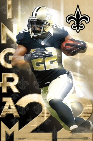 "Mark Ingram ""Golden Star"" New Orleans Saints NFL Action Poster - Trends International"