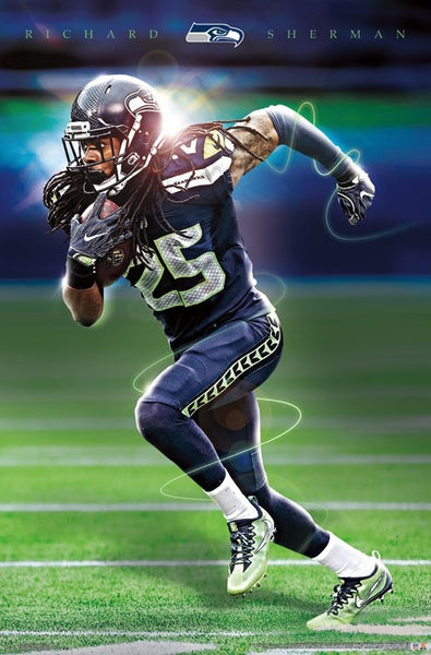 "Richard Sherman ""Prototype"" Seattle Seahawks Cornerback Official NFL Poster - Trends Int'l."