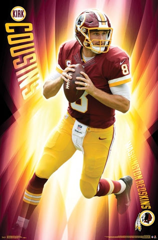 "Kirk Cousins ""Roll Out"" Washington Redskins NFL Action Wall Poster - Trends International"