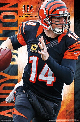 "Andy Dalton ""Roll Out"" Cincinnati Bengals NFL Action Wall Poster - Trends International"