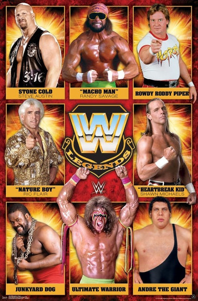 WWE Wrestling Legends (8 All-Time Superstars) Wall Poster - Trends International
