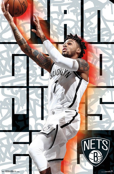 "D'Angelo Russell ""Superstar"" Brooklyn Nets NBA Basketball Action Poster - Trends 2018"