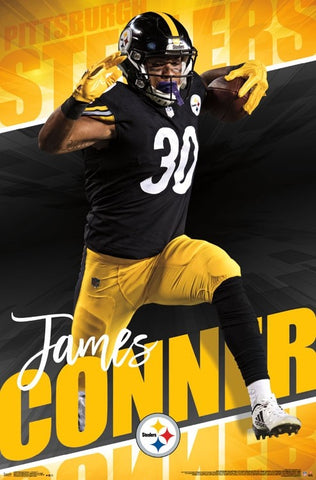 "James Conner ""Breakthrough"" Pittsburgh Steelers Official NFL Football Action Poster - Trends 2017"
