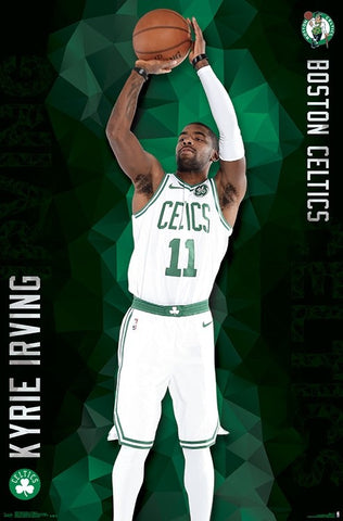 "Kyrie Irving ""Green Machine"" Boston Celtics NBA Basketball Wall Poster - Trends 2018"