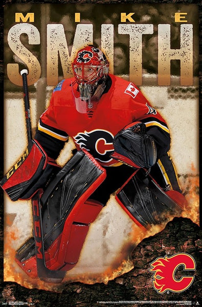 "Mike Smith ""Superstar"" Calgary Flames Goalie Action Poster - Trends International 2018"
