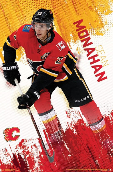"Sean Monahan ""Superstar"" Calgary Flames NHL Action Poster - Trends International 2018"