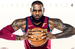 "LeBron James ""Serious Baller"" Cleveland Cavaliers Official NBA Poster - Trends 2017"