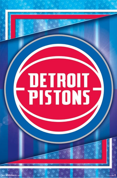 Detroit Pistons Official NBA Basketball Team Logo Poster - Trends International 2017