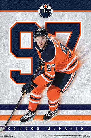 "Connor McDavid ""97 Magic"" Edmonton Oilers NHL Hockey Poster - Trends International 2018"