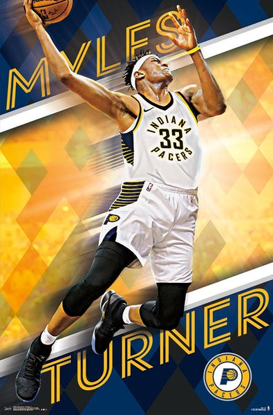 "Myles Turner ""Soaring"" Indiana Pacers NBA Basketball Action Poster - Trends 2018"