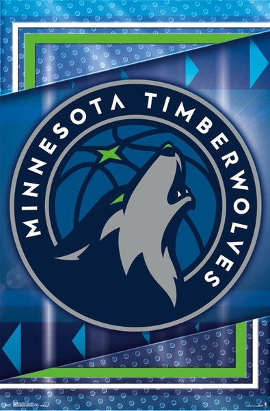 Minnesota Timberwolves NBA Basketball Official Team Logo Poster - Trends International 2017