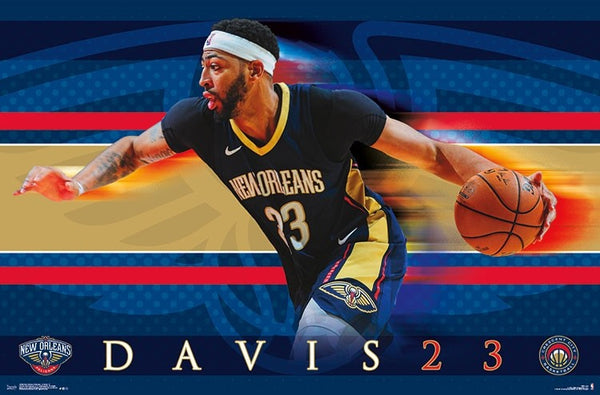 "Anthony Davis ""Drive"" New Orleans Pelicans NBA Basketball Action Poster - Trends 2018"