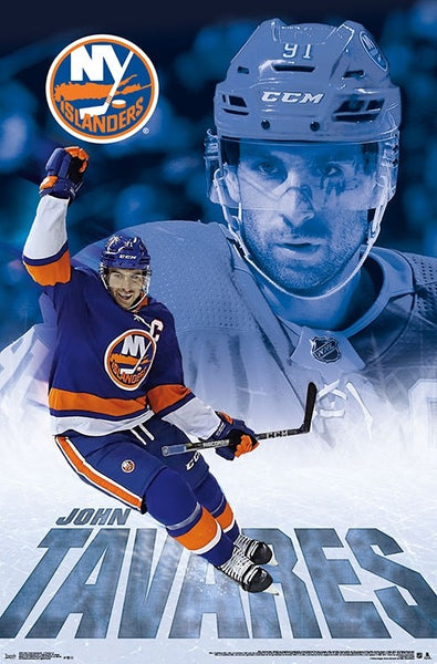 "John Tavares ""Captain Isle"" New York Islanders NHL Action Poster - Trends 2018"