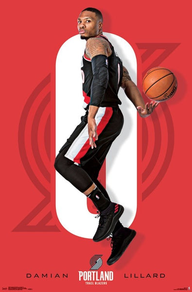 "Damian Lillard ""Superstar"" Portland Trail Blazers Official NBA Poster - Trends International Inc."