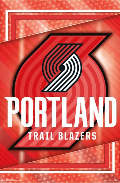 Portland Trail Blazers NBA Basketball Official Team Logo Poster - Trends International 2017