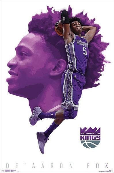 "De'Aaron Fox ""Launch"" Sacramento Kings NBA Basketball Poster - Trends International"