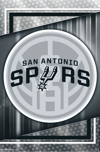 San Antonio Spurs NBA Basketball Official Team Logo Poster - Trends International 2017