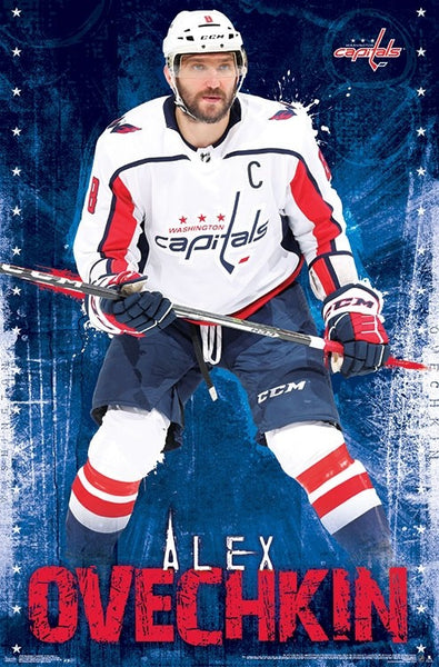 "Alex Ovechkin ""The Captain"" Washington Capitals NHL Hockey Action Poster - Trends International"