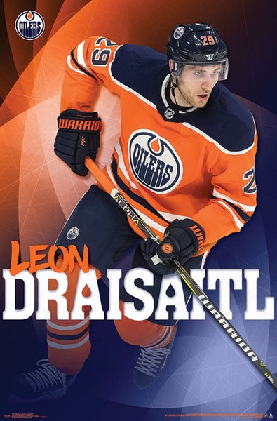 "Leon Draisaitl ""Superstar"" Edmonton Oilers NHL Hockey Poster - Trends International 2018"