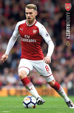 Aaron Ramsey Arsenal FC Official EPL Football Soccer Action Poster - Trends International