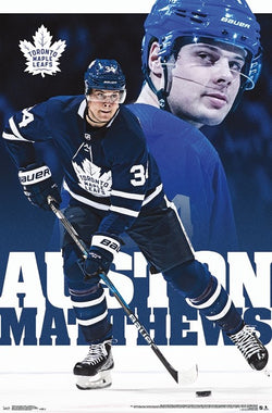 "Auston Matthews ""Masterpiece"" Toronto Maple Leafs Official NHL Wall POSTER - Trends 2018"