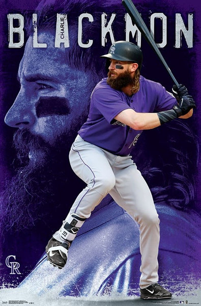 "Charlie Blackmon ""Superstar"" Colorado Rockies Official MLB Baseball Poster - Trends 2018"