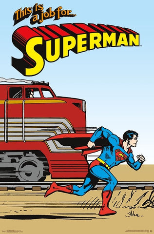Superman Vintage 1940s Style Comic Book Character Wall Poster - Trends International