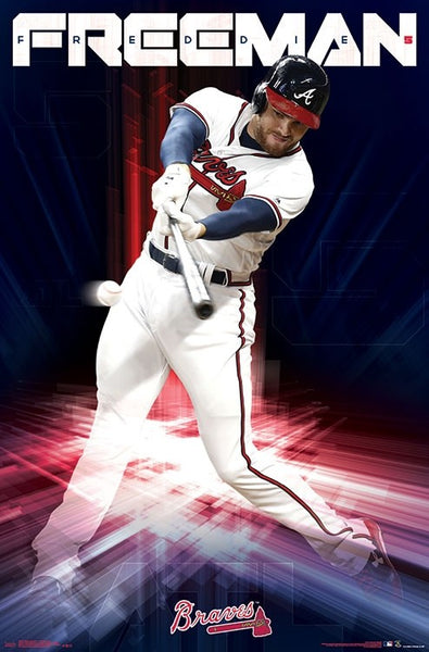 "Freddie Freeman ""Masher"" Atlanta Braves MLB Baseball Poster - Trends International"
